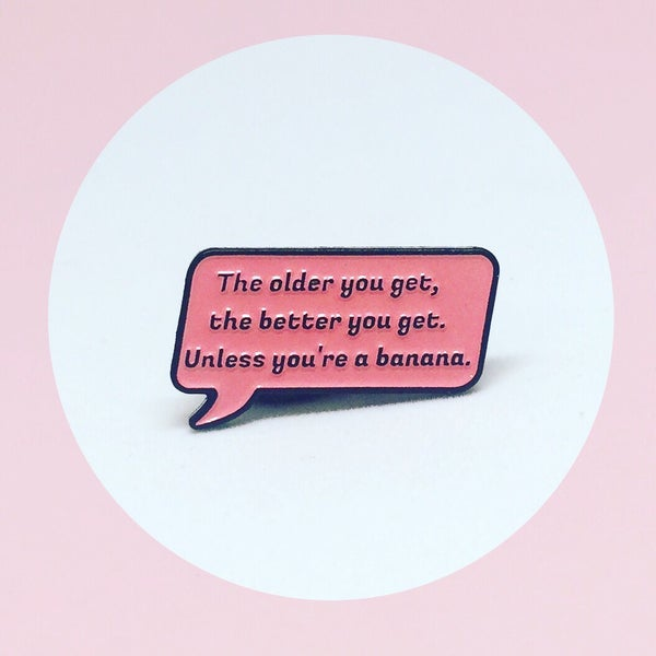 Image of NEW: Rose Speech Bubble Quote, Golden Girls, Enamel Pin
