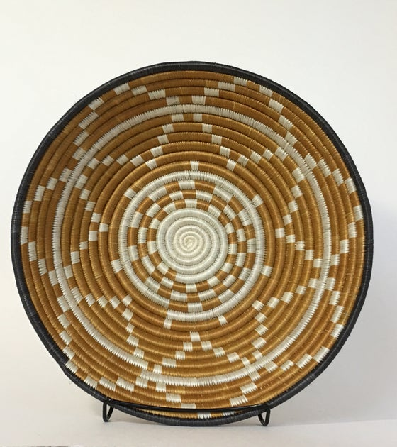 Image of Hand Woven African Basket | Dijon Gold