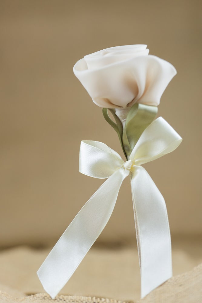 Image of Rose flower stem - bomboniere/wedding favours