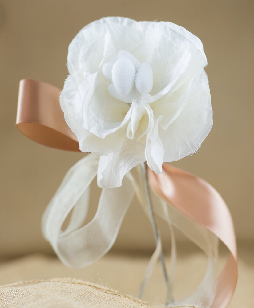 Image of Large flower stem - bomboniere/wedding favours
