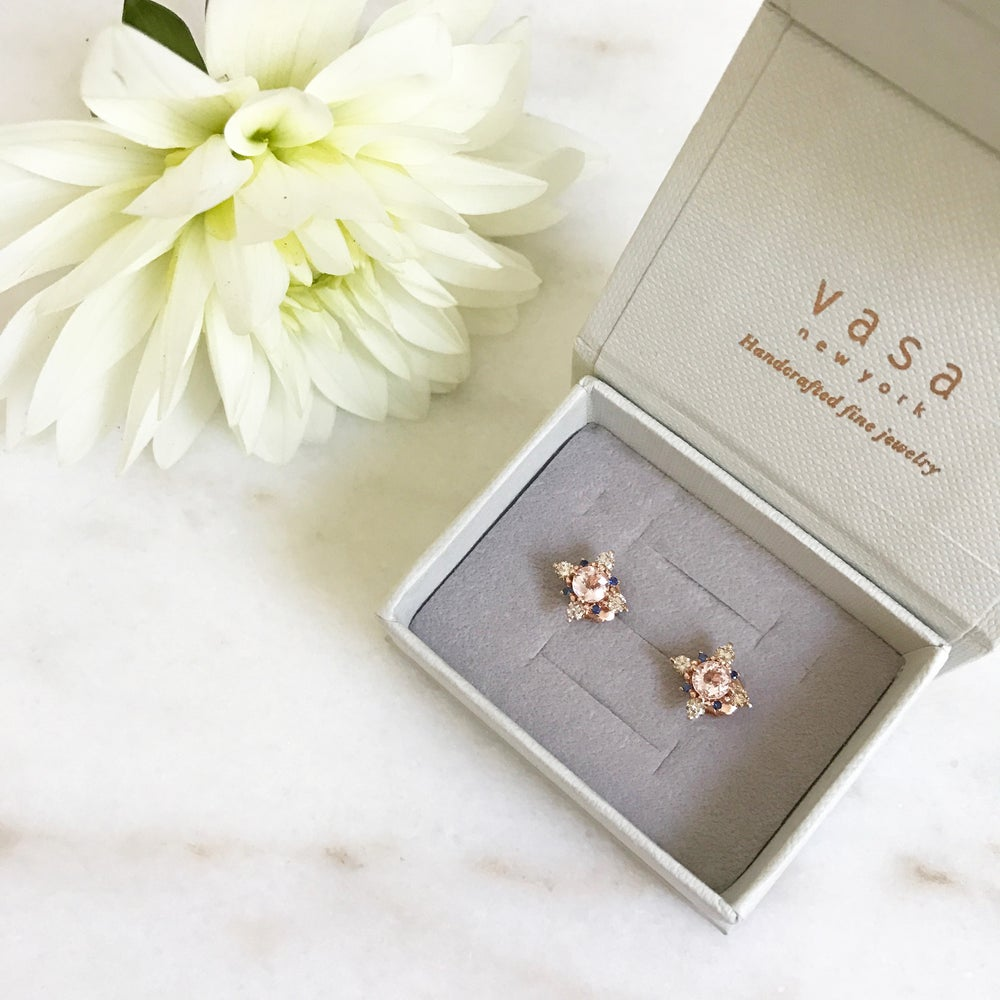 Image of Winter Forest Morganite Earring