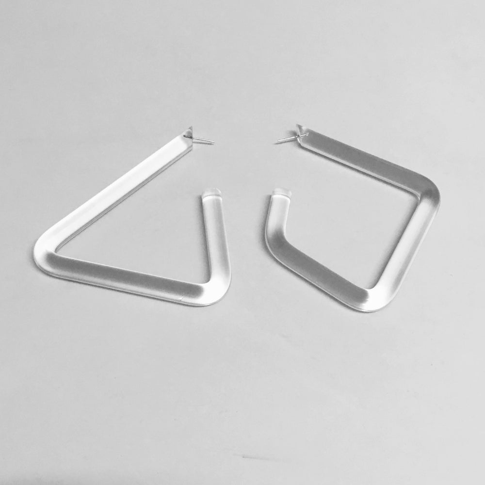 Image of Shapeshifter XL Lucite Earrings #1