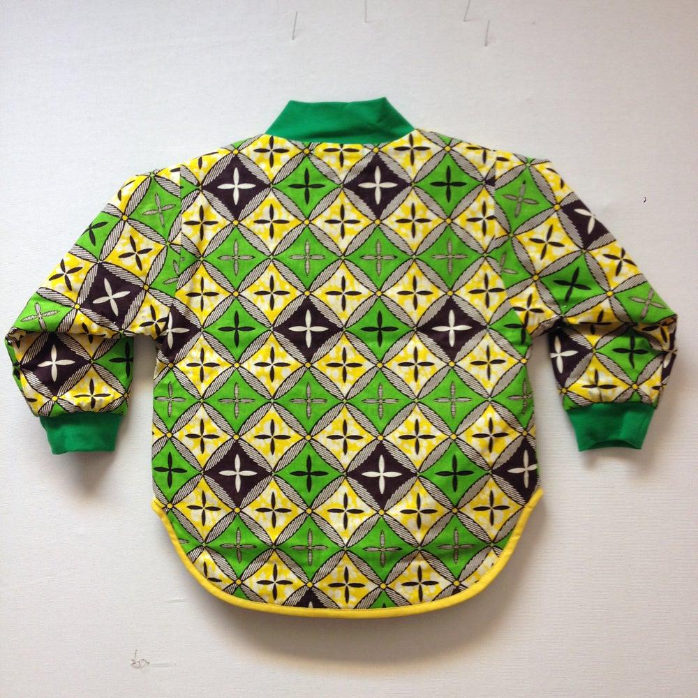 Image of ASFALT kids termojakke med gul/grønne tern print (3-4 år)