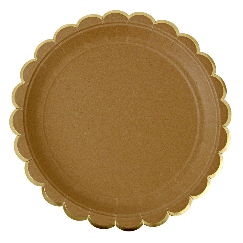 Image of Kraft Scallop Edge Plates