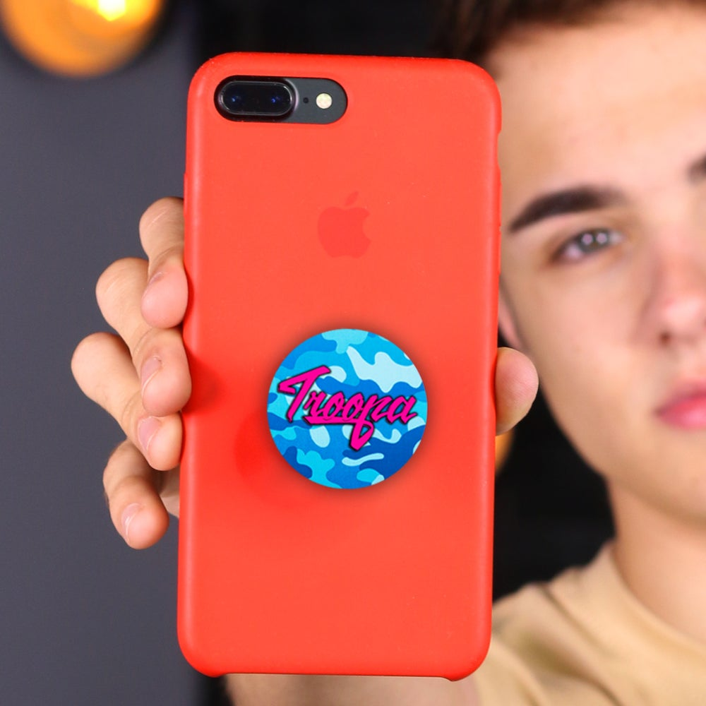 Image of 'TROOPA' Blue Camo Popsocket! (Phone case not included)