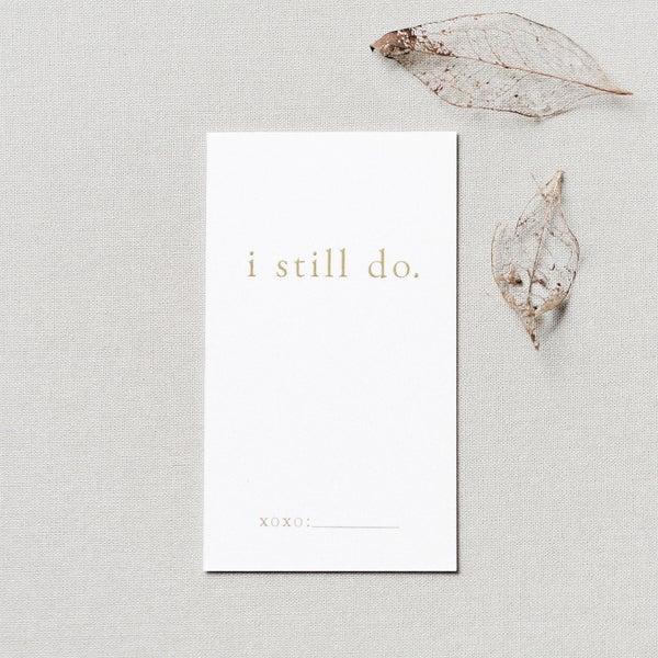 Image of I Still Do Project | Gold Foil Wallet Cards