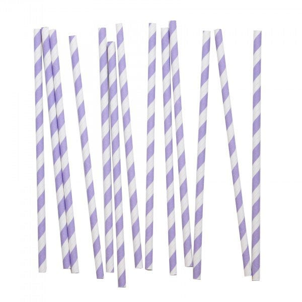 Image of Lavender Striped Straws