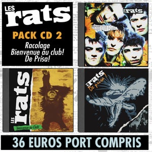 Image of LES RATS Pack 3 CD (2)