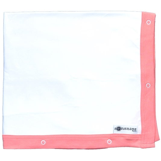 "Image of Sunsnapz Baby Blanket ""CORAL"""