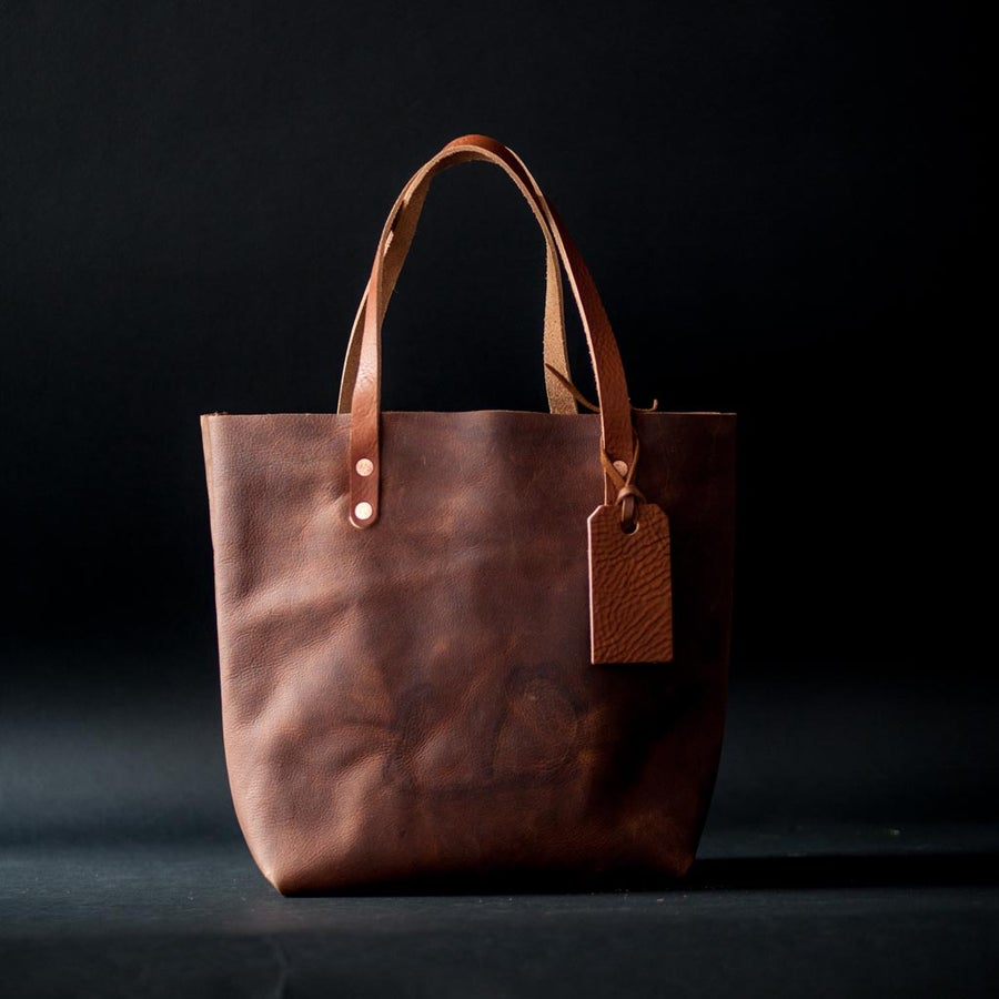 Image of Tan Kodiak Leather Tote