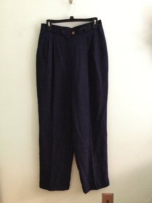 Image of Ralph Lauren (Lauren) silk navy dress pants