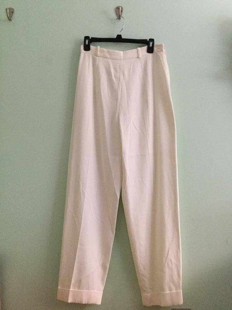 Image of white high waist dress pants