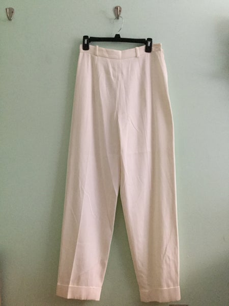 Image of white high waist dress pants