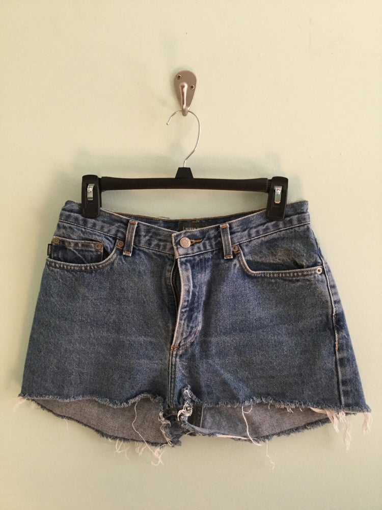 Image of Lauren Jeans Co. cut off denim shorts