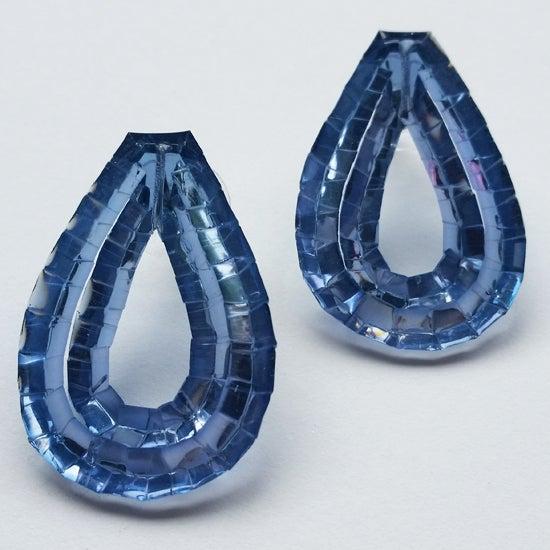 Image of Rain Stud Earrings - Ocean Blue