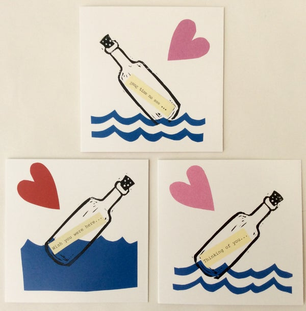 Image of Message in a bottle cards