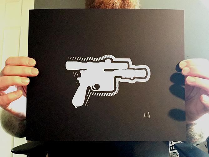 Image of Han Blaster Print