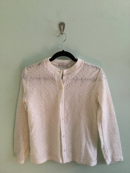 Image of dainty white cardigan