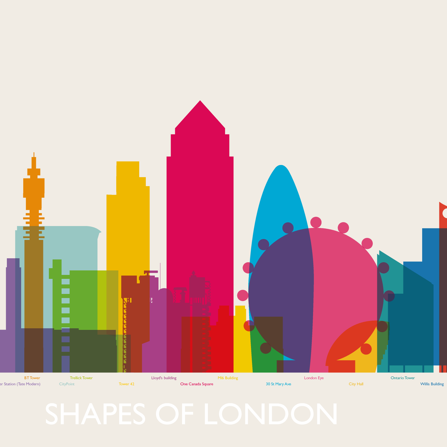 Image of Shapes of London chronological