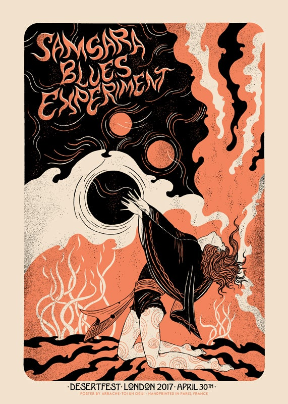 Image of SAMSARA BLUES EXPERIMENT (Desertfest London 2017) screenprinted poster