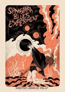 Image of SAMSARA BLUES EXPERIMENT (Desertfest London 2017) screenprinted poster