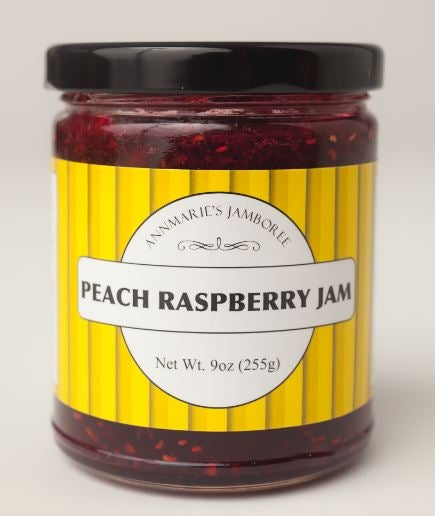 Image of Peach Raspberry Jam, 9oz jar