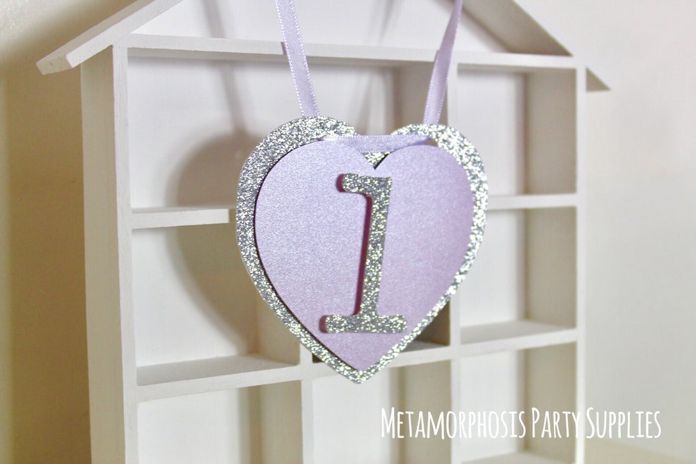 Image of 3D heart personalised banners