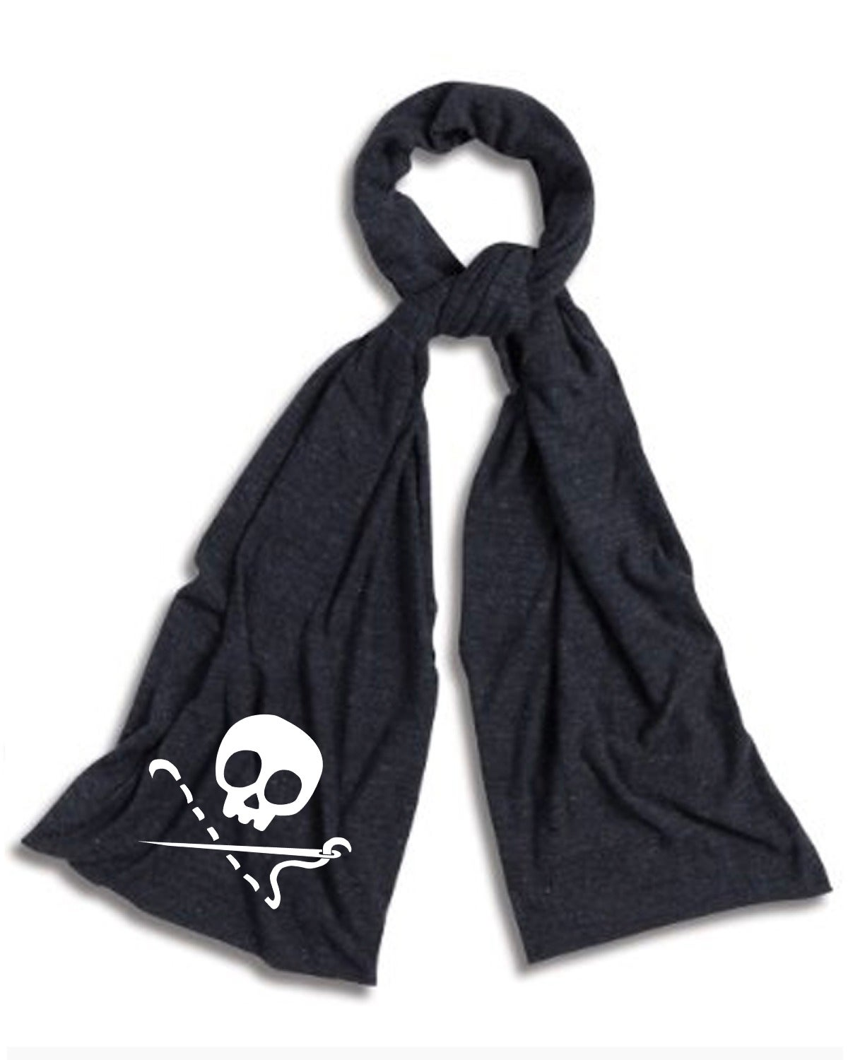 Image of PREORDER - Dark Grey Sewing Skull Scarf - Shipping July 15