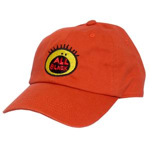 Image of All Black Dad Hat Orange Presale