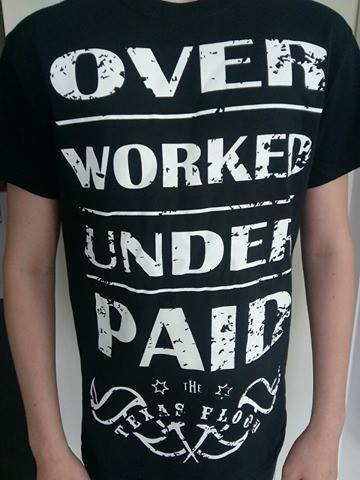 Image of OVER WORKED & UNDER PAID T-SHIRT