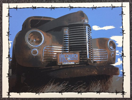 "Image of Eric Church ""Trusty Rusty"" Truck Poster"