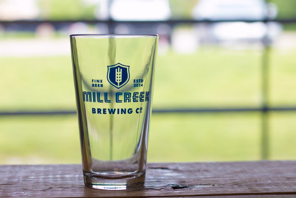 Image of Mill Creek Logo Pint Glass