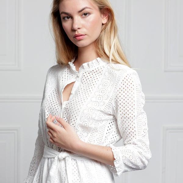 Robe Audrey Broderie - Maison Brunet Paris