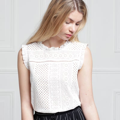 Top Emma Broderie  - Maison Brunet Paris