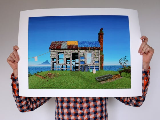 Image of Two Weeks at Pantless Cottage, Mokau - Print
