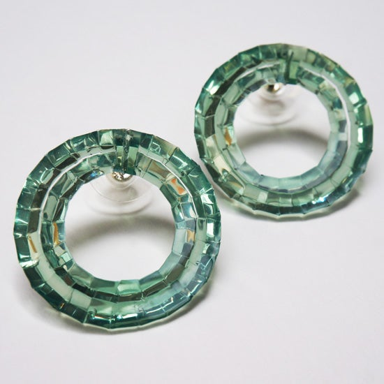 Image of waterhole stud earrings - emerald