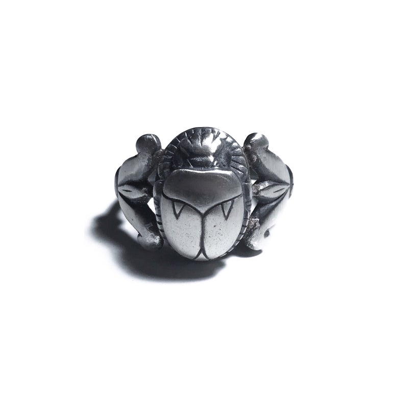 Image of Scarab ring in sterling silver