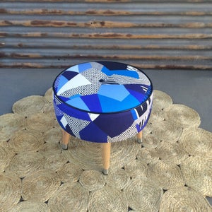 Image of Tropicalia Cobalt side table / footstool