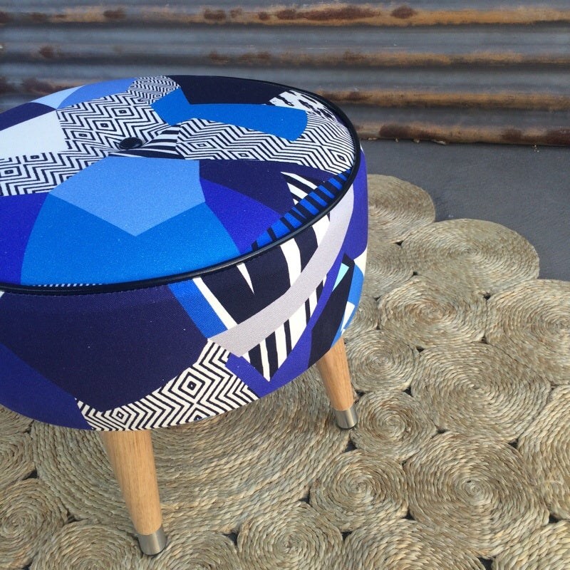 Image of Tropicalia Cobalt side table / footstool
