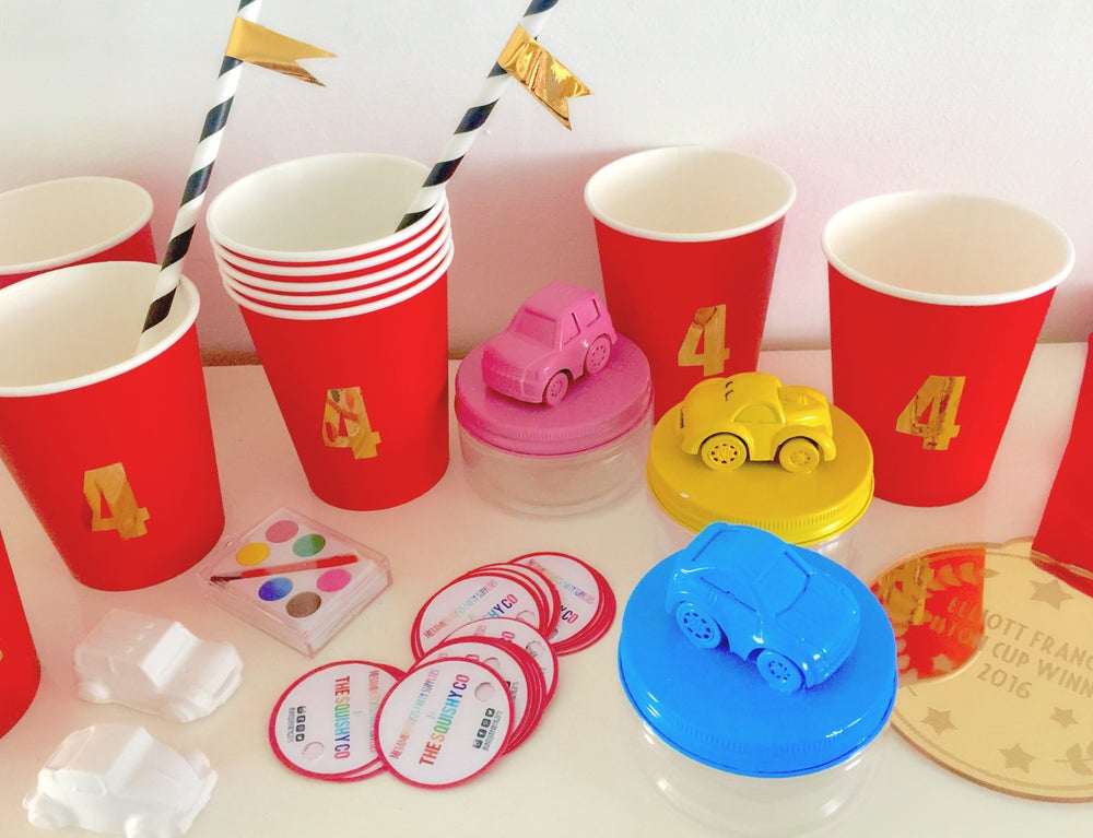 Image of Personalised cups and straws