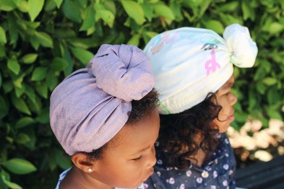Image of 'CONNOR' Lavender Top-Knot Turban (Women's & Mini)