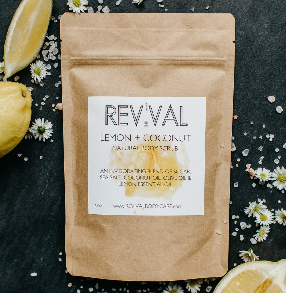 Image of LEMON + COCONUT BODY SCRUB