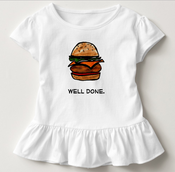Image of Well Done Burger Kids T-Shirt With Ruffle