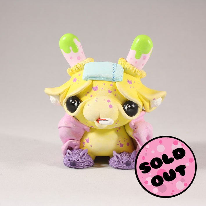"Image of Kitty Pox - 3"" Custom Kidrobot Dunny from ToyconUK 2017"