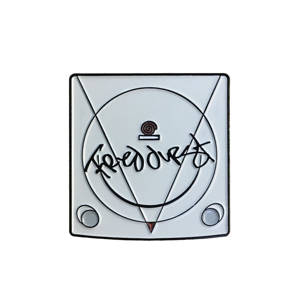 "Image of 'Fred Durst SIGNED Dreamcast' 1.25"" Lapel Pin"