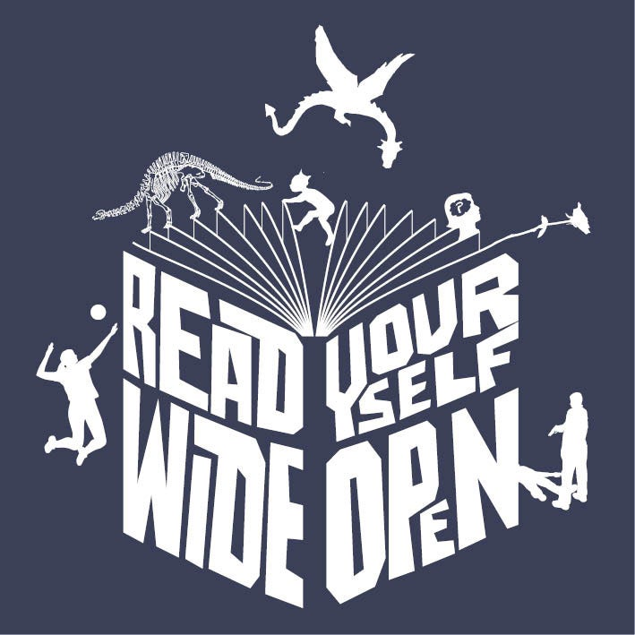Image of Read yourself wide open - mens