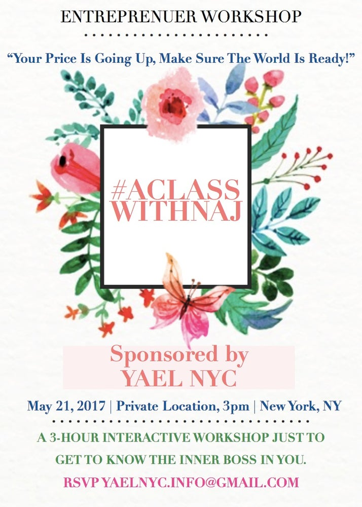 Image of Entrepreneur Workshop with YAEL NYC May 21, 2017