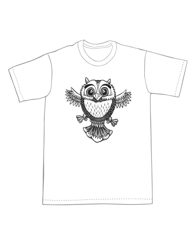 Image of Cute Little Owl T-shirt **FREE SHIPPING**