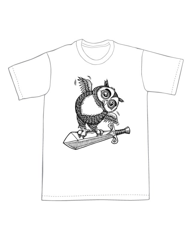 Image of The Sword and the Owl T-shirt **FREE SHIPPING**