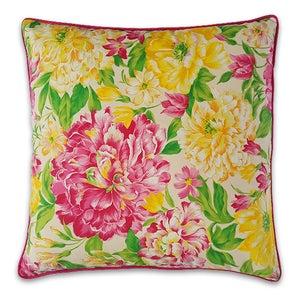 Image of Kissen – Pink & Yellow Flowers